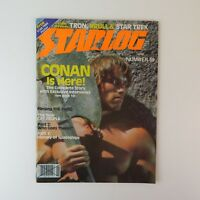 Starlog June 1982 #59 SciFi Magazine -Tron Krull Star Trek Conan The Thing