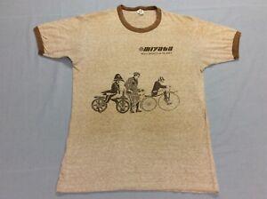 VINTAGE 70S MIYATA BICYCLES RINGER HANES SOFT BLEND T-SHIRT ADULT MEDIUM SMALL