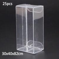 25pcs 1/64 Model Car Vehicle Plastic Display Box For Matchbox TOMICA