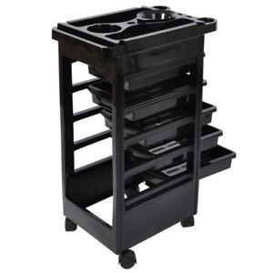 5 Layers Rolling Salon SPA Trolley Storage Cart Beauty Salon Hair Dryer Holder