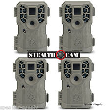 4 Pack Set Stealth Cam PX14 Trail Game Camera 8MP Scouting Infrared Deer Video