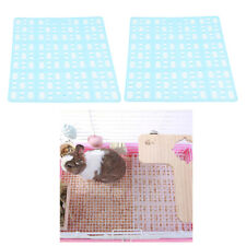 2Pcs Rabbit Pad for Cages Hamster and Other Small Animal Cage Hole Mats Blue
