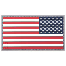 Maxpedition Kleine Omgekeerde Usa Vlag 3D Pvc Rubber Badge Patch Full Col