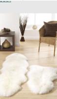 "ORIGIN NATURAL CREAM AUSTRALIAN SHEEPSKIN RUG SINGLE 36""X 25"" approx NEW £100"