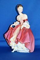 Vintage Porcelain Royal Doulton HN 2229 Southern Belle 20cm Tall Pink Figurine
