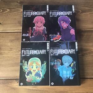 Future Diary Mirai Nikki English Manga Volumes LOT of 4 Vol. 1-4 FIRST PRINT