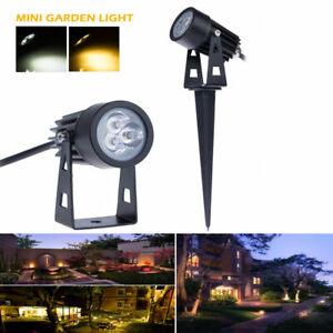 1/5/10pcs Mini 3W LED Outdoor Path Landscape Garden Yard Light warm /cool white