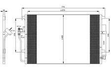 NRF Condensador, aire acondicionado OPEL VOLKSWAGEN PASSAT MERCEDES-BENZ 35849