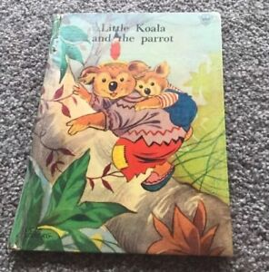Little Koala and the Parrot, Lucle Lindberg vintage children's book,