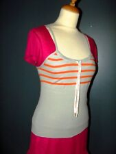 GAULTIER JEAN PAUL  TOP PULL BAYADERE LACETS TS OU 34/38