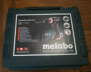 NEW - Metabo PowerMaxx BS 12 Q Cordless Drill Kit #601039520