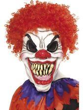 Creepy Adulto Costume Spaventoso SINISTRE Circo Rosso Clown Maschera Halloween