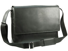 Visconti Distressed Hunter Genuine Leather Messenger Bag - Oil Black ( 18516 )