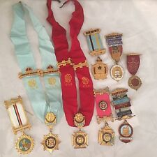 Lot of 8 x  R.A.O.B. Medals / Masonic Jewels: Various Lodges & Names (lot 1)