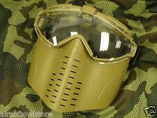 Coyote Paintball Airsoft AEG Electric Fan Mask Shooting Goggles Glasses (170)