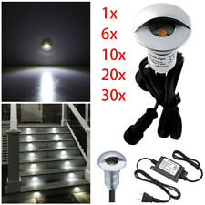 26mm LED Deck Light Inground Outdoor Garden Stair Step Fence Cold White 12V
