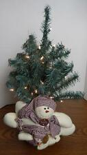 Frosty the Snowman Lighted Tabletop Christmas Tree EUC