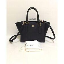 New COACH 33996 Crossgrain Leather Crosby Carryall Satchel Shoulder Bag Black