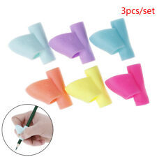 3pcs Pencil Grip Tool Soft Rubber Pen Topper For Kid Handwriting Aid UsefulDS