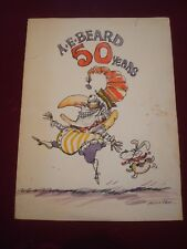 ORIGINAL A E BEARD PUNCH ARTIST 50th BIRTHDAY CARD 15 x 11ins HAND DRAWN