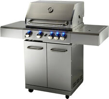 New Stainless Steel Outdoor Propane Bbq 5 Burner Grill w/ Rotisserie + Cover