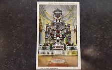 Vintage Postcard Havana Cuba Altar at San Francisco Church