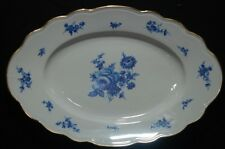 "Schaller MEISSEN BOUQUET 14-1/2"" by 9-1/2"" Serving Platter Blue & White Flowers"