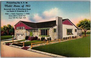 VFW Model Home of 1953 Cranston RI Vintage Postcard C64