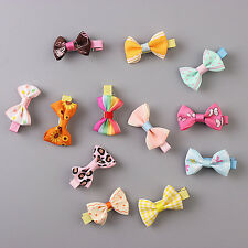 5pcs/lot Dog Pet Grooming Bow Flower Hairpins Butterfly Hair Clips Hair Barrette