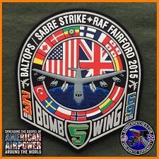 B-52 2015 BALTOPS / SABRE STRIKE PVC PATCH, RAF FAIRFORD, 5TH BW 23D & 69TH BS