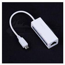White Micro USB Gigabit Ethernet RJ45 External Network Card Lan Adapter For PC