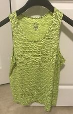 Nike Running Tank Singlet Volt Size Medium Dri Fit
