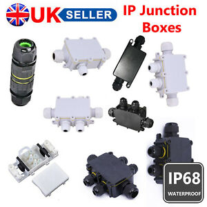 2/3/4/5/6 WAY WATERPROOF ELECTRICAL JUNCTION BOX CABLE CONNECTOR TERMINAL IP68