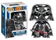 Funko Pop Star Wars Darth Vader Chrome 01 Bobblehead Vinyl Figure