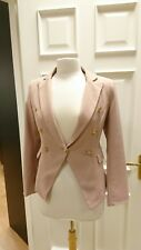 Ladies pink double breasted blazer size 10-12