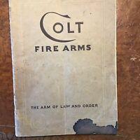 1932 colt fire arms catalog