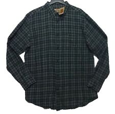 Foundry Men's Winter Green Tartan Plaid Button Down Flannel Shirt NWT Size XLT