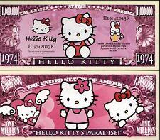 USA 'Hello Kitty' 1 Million US Dollar commemorative banknote - NEW - UNC & CRISP