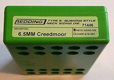 71446 REDDING TYPE-S NECK BUSHING SIZING DIE - 6.5 CREEDMOOR - NEW - FREE SHIP!