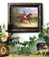 NEW ITEM HERRING Fox Hunt Horse Print Antique Styl Framed 11X13 Pony