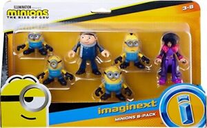 IMAGINEXT Minions Playset Figure x 6 Set Gru Belle Stuart Bob Kevin Otto BNIB