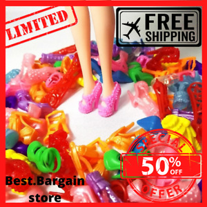15 Pairs Colorful Assorted Shoes For Barbie Dolls Sandals heels clothing outfits