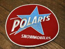"""L1044- Nos Large Vintage Polaris Snowmobiles Back Patch 7-1/2"""""""