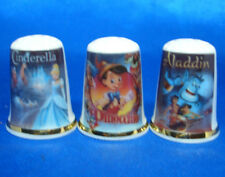 Birchcroft Thimbles -- Set of Three -- Classic Cartoon Posters