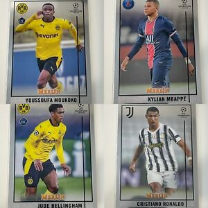 2020 21 Topps Chrome Merlin Collection UEFA Soccer #1-100 Base & RC's You Choose