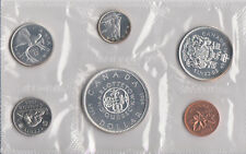 1964 Canada Sealed Proof Like Mint Set 6 Coins Total - 4 Silver Coins 80% 0.800