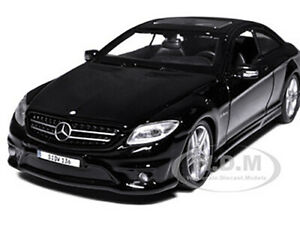 MERCEDES BENZ CL63 AMG BLACK 1/24 DIECAST MODEL CAR BY MAISTO 31297