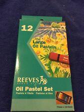 Reeves Large Assorted Hexagonal Oil Pastels Set of 12 Each