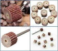 11pc 120Grit Sanding Flap Wheel Sand Paper Dremel Rotary Die Grinder Drill Bit