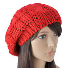 Fashion Warm Winter Women Beret Braided Baggy Knit Crochet Beanie Hat Ski Cap